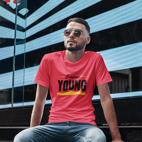 YOUNG RED PRINTED TSHIRT