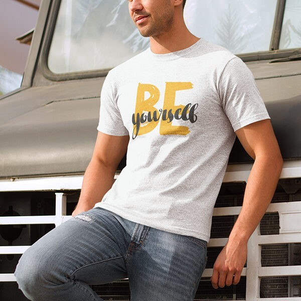 BE YOURSELF WHITE TSHIRT