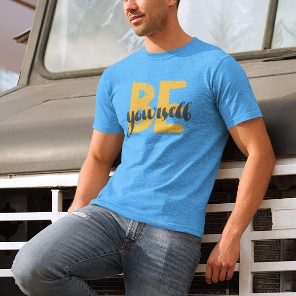 BE YOURSELF BLUE TSHIRT