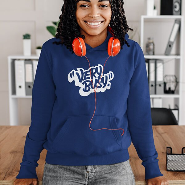Very Busy Printed Cotton Women Hoodie